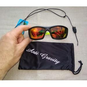 Солнцезащитные очки Anti-Gravity ЧЁРНЫЕ с зернално-ЦВЕТНЫМИ ЛИНЗАМИ, Поляризация